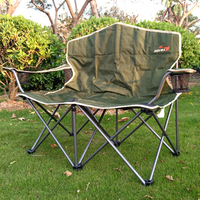 Outdoor Fishing Chair bearing 220kg outdoor furniture garden furniture beach chair folding chair patio furniture two people BBQ