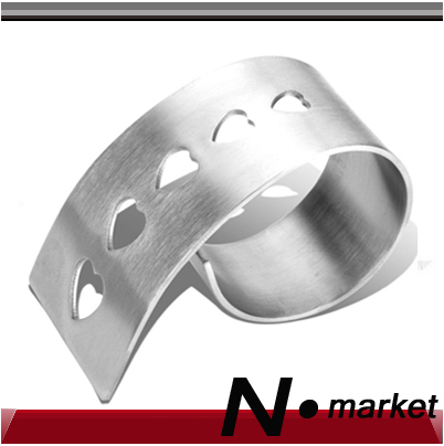 Free Shipping Factory Direct Sales Love Round Napkin Ring For Wedding Stainless Steel Home Decoration Napkin Holder