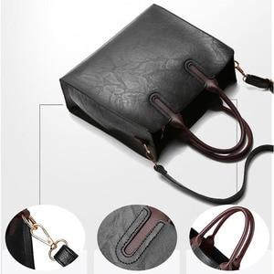 Image 5 - Знаменитые брендовые дизайнерские сумки, кожаные сумки, женские вместительные винтажные сумки с ручками, однотонные сумки тоут, женская сумка через плечо