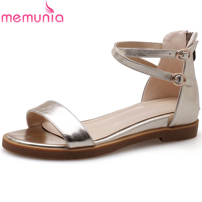 MEMUNIA 2018 fashion summer new shoes woman buckle casual women sandals loe heel wedges shoes zip genuine leather shoes venchale 2018 summer new fashion sandals wedges platform women shoes height heel 10 cm buckle strap casual cow leather sandals