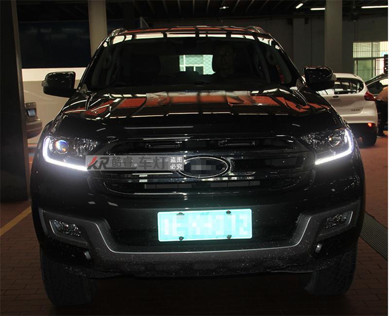 Free shipping vland factory headlamp for Ford Ranger led headlight 2016 with double lens and plug and play design H7 or D2H Bubl free shipping vland factory auto car styling for ford escorts fries headlight led 2015 2016 headlamp with hid xenon