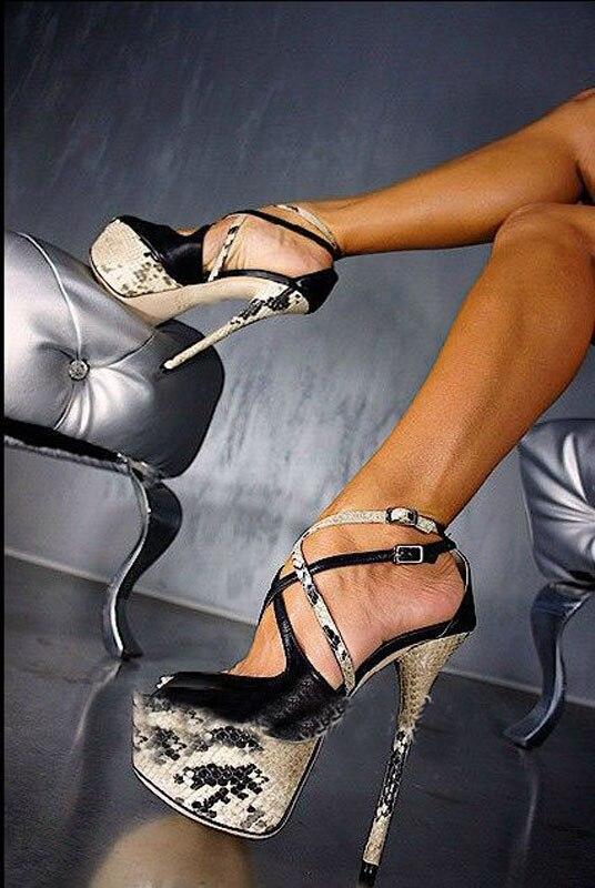 Nuevas sandalias atractivas 16 cm zapatos de tacones ultra altos - Zapatos de mujer