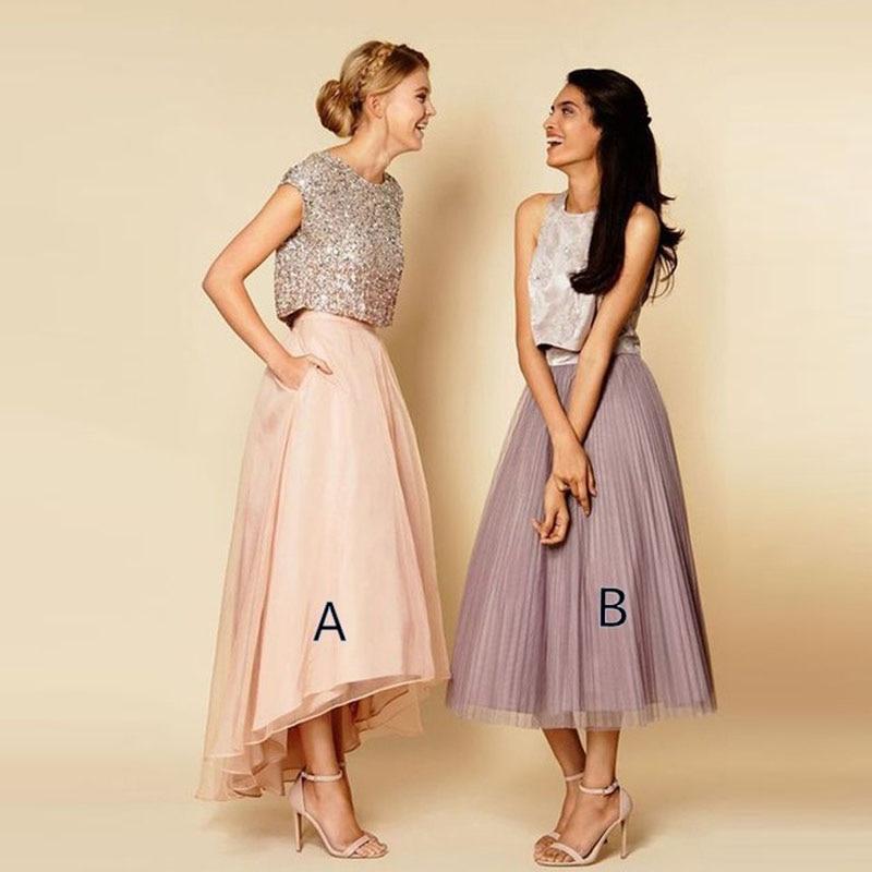 2017 Fashion Asymmetrical Skirts High Waist Pink High Low Women Skirt Custom Made Spring Summer Saia Longa Party Maxi Skirts