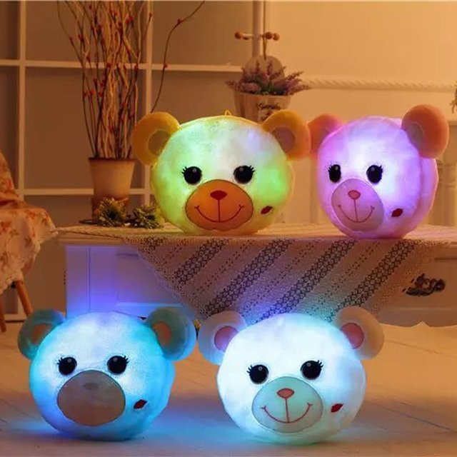 LED pillow cartoon monkey frog light luminous Controllable light-emitting  plush dolls Confession birthday gift