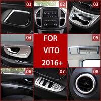 Dedicated to Mercedes Benz interior trim VITO 2016+ central control panel decorative strip automotive interior trim refitted