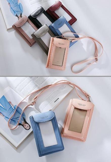 Shoulder Belt Touch Screen Mobile Phone PU Case For Nokia 3,Oukitel U20 Plus/U15S/U15 Pro/K7000/U7 Plus/C3/C2/K6000 Priemium/U10