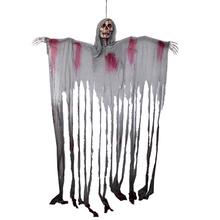 Хэллоуин Череп висит жнец печати висит призрак дверной занавес дом с привидениями Escape ужас реквизит украшения