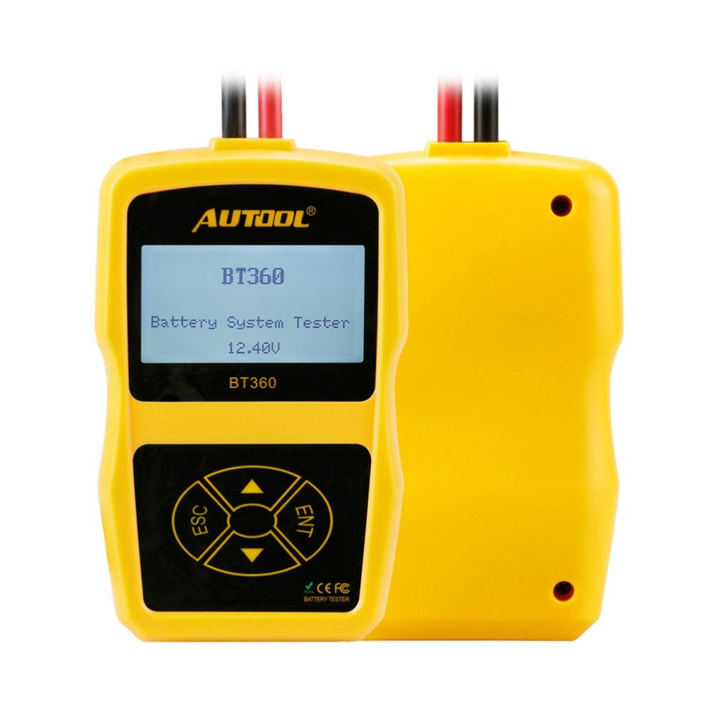 Car Battery Analyzer Tester Autool Bt360 12v Support 2000cca For Other Obd2 Vehicle Tools Vchecker T701 Circuit Pencil Cranking And Charging System Test In Measurement Units From