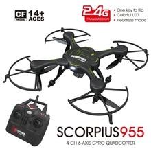 F16209/210 FQ777 955 Drone 2.4G 4CH 6Axle Headless Mode One Key Return RC Quadcopter RTF Black