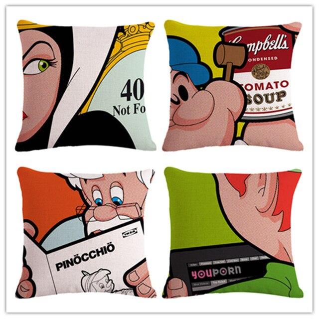Colorful Divertente Comic Book Fodere per Cuscini Biancheria Affetto Divano Segg