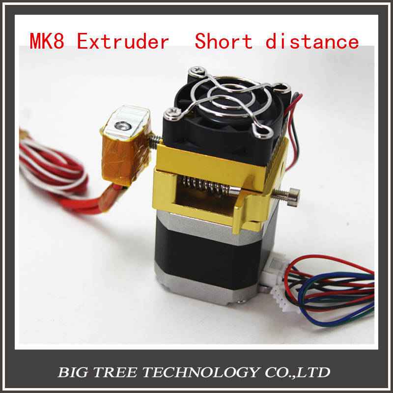 3d printer nozzle Accessory Kit extruder MK8  short distance latest update