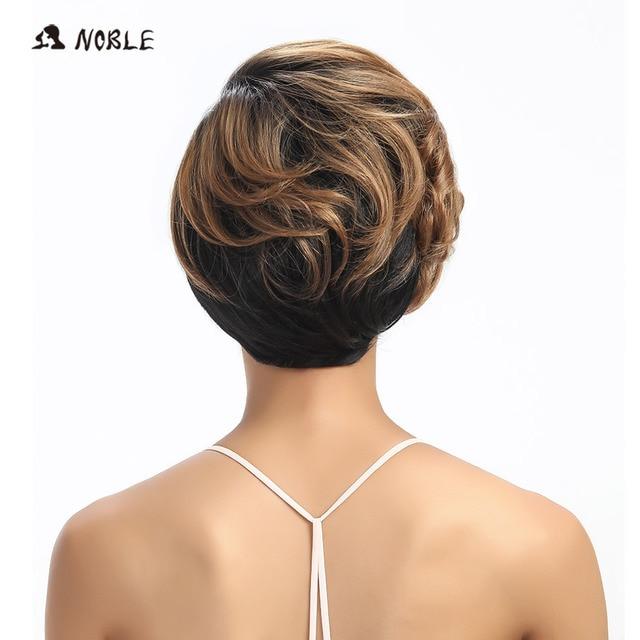Pelucas de pelo sintético Noble, pelucas rubias onduladas cortas de 10 pulgadas para mujeres negras, envío gratis, peluca de pelo sintético resistente al calor