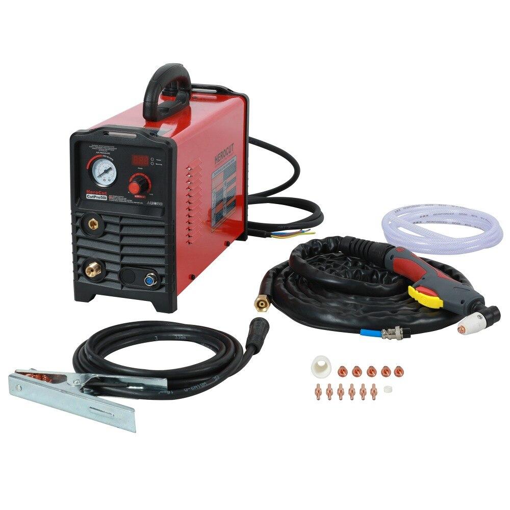 IGBT Taglio Al Plasma CUTPro50i 220 v 50 Amps DC macchina di taglio Plasma Ad Aria di taglio pulito spessore 15mm