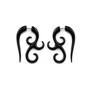 Акриловые Поддельные витые спиральные штифты для ушей, расширители для сережек, украшения для пирсинга тела
