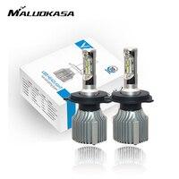 MALUOKASA V1 Car LED HeadLight Bulb 9005 HB3 4000LM LED HeadLight Lamp H1 H4 H7 H8