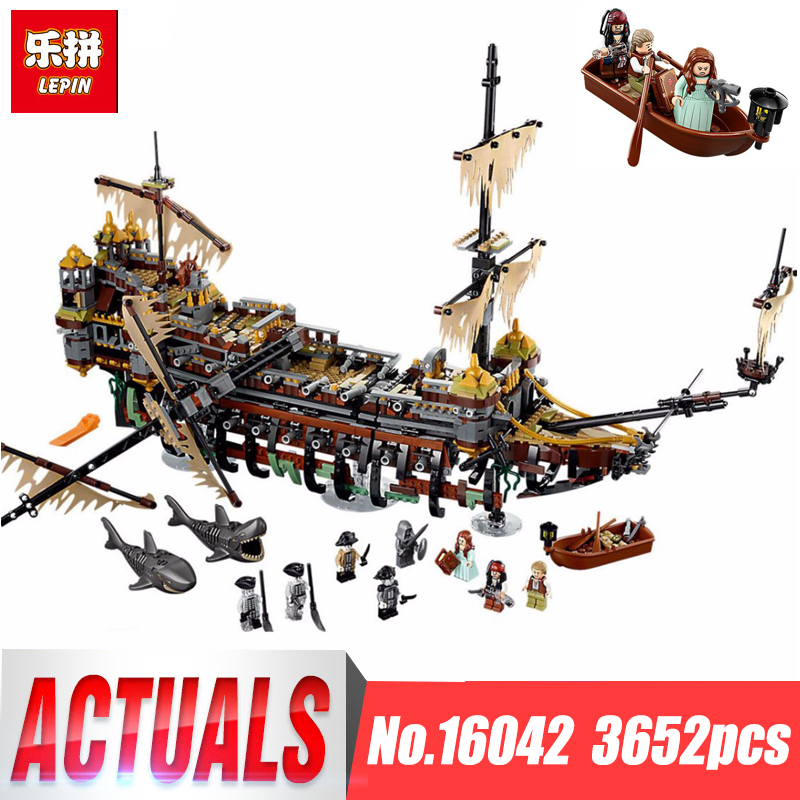 Lepin 16042 Compatible with legoing Pirate of The caribbean 71042 Slient Mary speed Set Children Building Blocks Bricks Toys 2017 new 10680 2324pcs pirate ship series the slient mary set children educational building blocks model bricks toys gift 71042