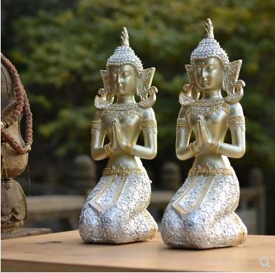 Southeast Asian style Buddha statues, home furnishings, creative retro religious ornaments