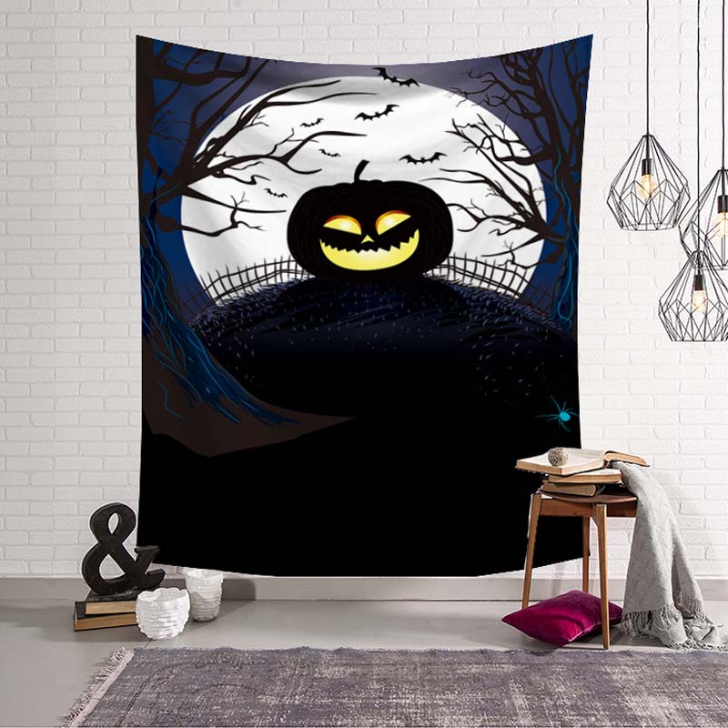 Zombie Happy Halloween Party Decoration Wall Hanging Tapestry Trick or Treat Door Ornament Haunted House Psychedelic Mat Rugs