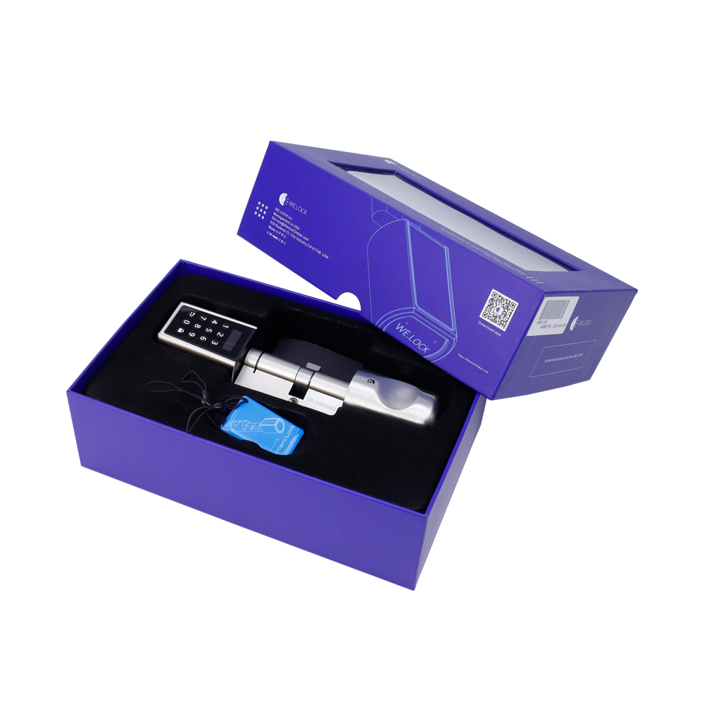 Купить с кэшбэком L6PCB Electronic Door Lock App Combination safety lock keypad Cylinder Lock for Airbnb Apartment -EU Model