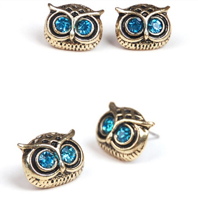 the latest fashion exquisite complex Guge those punk cute big eyes owl jewelry factory direct