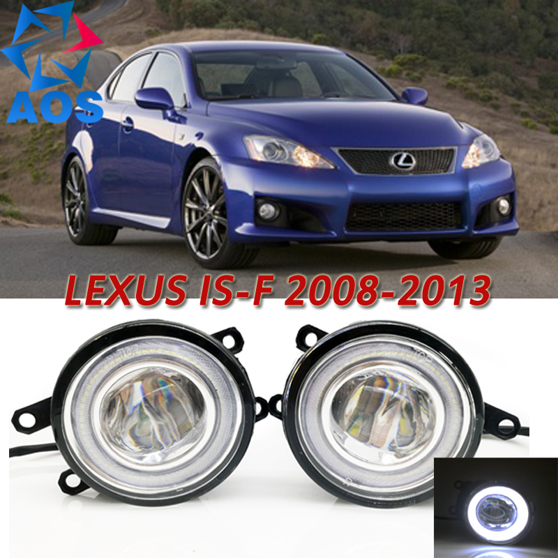 For Lexus IS F 2008-2013 Car Styling LED Angel eyes DRL LED Fog light Car Daytime Running Fog Light set for lexus lx570 rx350 awd rx450h awd es300h gs350 gs450h is f is250 is350 2008 2013 drl led blue crystal blue fog lights lamps