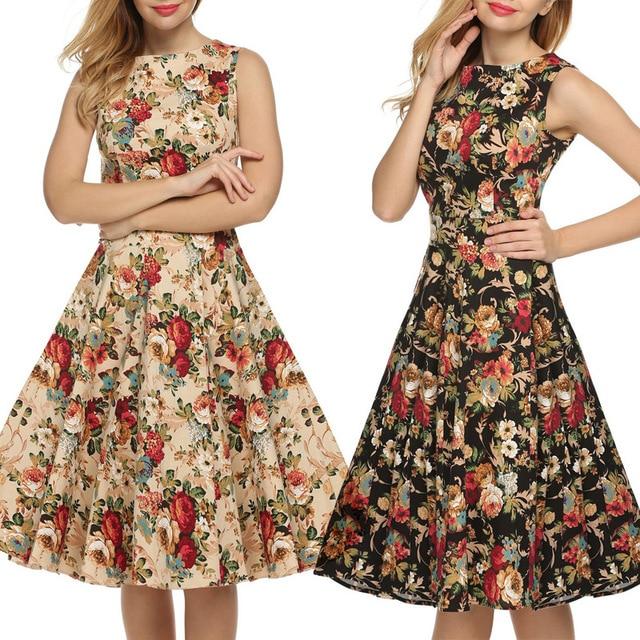93d8d57cb8e3 Vintage 1950 s Floral Spring Garden Party Picnic Dress Party Dress ...