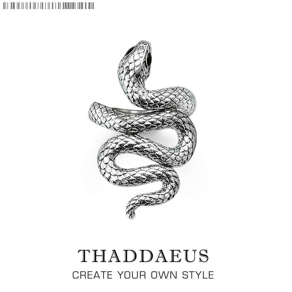 Bague en argent serpent, Thomas Style Glam mode bon bijoux pour les femmes, 2017 Ts cadeau en 925 argent Sterling, Super offres