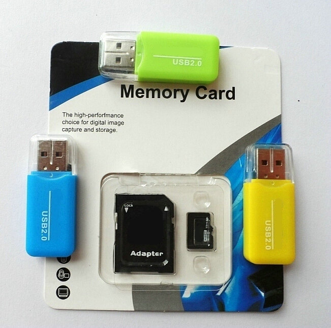 Wholesales-2GB 4GB 8GB class4 Memory card 16GB 32GB 64GB 128GB class10 micro original tf sd card +retail package adapter reader