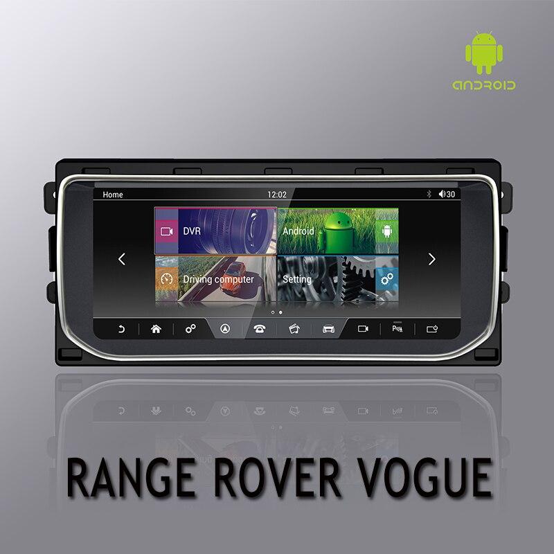 Multimedia Navegação GPS Para RANGE ROVER VOGUE NVTECH 2 Dashboard Android 7.1 Bluetooth RAM + ROM + 32 Jogador GB 10.25 ''2013-2016
