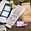 1PC Kawaii Colorful Retro Ticket Sticker Bookmark Marker Memo Pad Flags Sticky Note