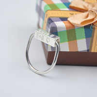 Solid Rotation Bar Ring Engraved 4 Side Name Ring Custom Date Stamp Ring Personalized Lucky Ring Christmas Gift