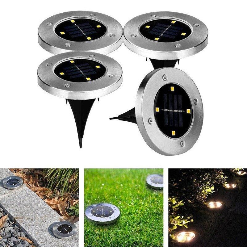 1PC LED Lawn Lamp Solar Garden Light Outdoor Underground Landscape Light