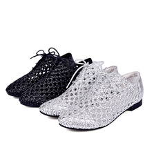 2016 New Arrive Women's sandals Low Heel Cow Outsole Fashion Gladiator  Women Genuine Leather  fretwork women Shoes size 34-40