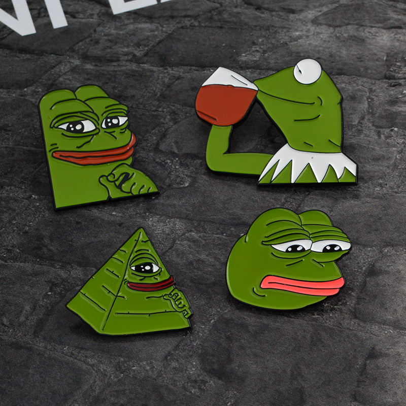 Pepe Sad Frog Enamel Lapel Pin Feels Bad Man Brooch Pin Feels Good Man Badges Pop Funny Pins Jewelry For Clothing Arts,crafts & Sewing