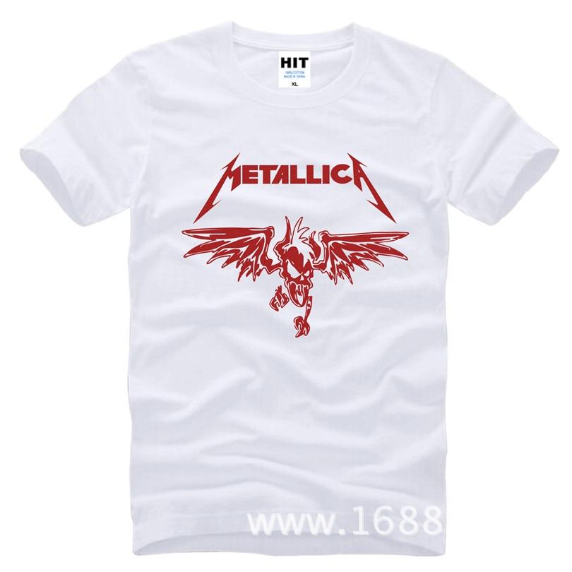 Klassik Ağır Metal Metallica Rok Kişilər üçün Köynək T-shirt - Kişi geyimi - Fotoqrafiya 5
