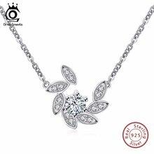JOYAS ORSA 100% 925 Sterling Silver Pavimentada Cristal Colgantes y Collares para Las Mujeres Color de Rodio Joyería de Moda SN36
