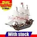 EN STOCK NUEVO LEPIN 22001 Barco Pirata Modelo Kits de Construcción de Buques de Guerra Imperial Briks de Bloques Juguetes de Regalo 1717 unids Clon 10210