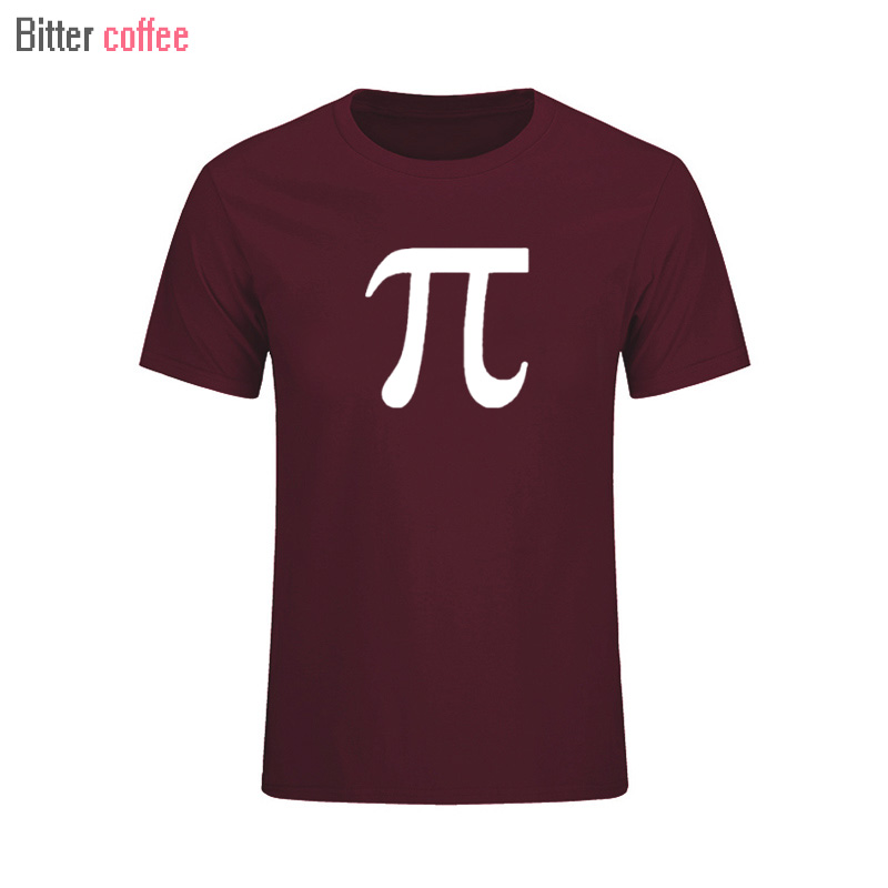 BITTER COFFEE 2017 Summer Hot sale Classic Math Science Pi Letter Summer T Shirts Men Cotton O-Neck Man Tops & Tees
