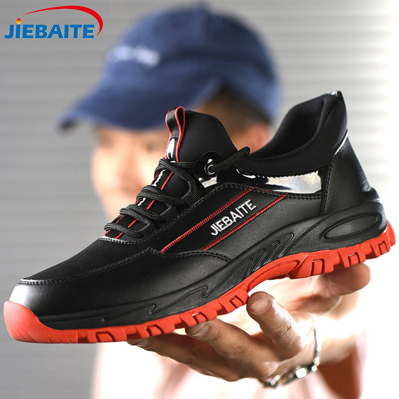 Men Work & Safety Shoes Steel Toe Caps Anti-smashing Anti-puncture Construction Work Boots Non-slip Breathable Security Shoes