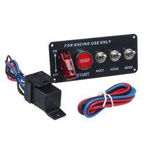 15*6,6*6,3 cm 12V coche de carreras palanca LED interruptor de encendido, Panel de inicio del motor botón Universal para 12V de potencia de la rapidez