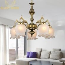 2015 New Hot genuine zinc vintage bedroom lamp LED Chandelier lights Top novelty Indoor Lights wedding decoration kitchen light