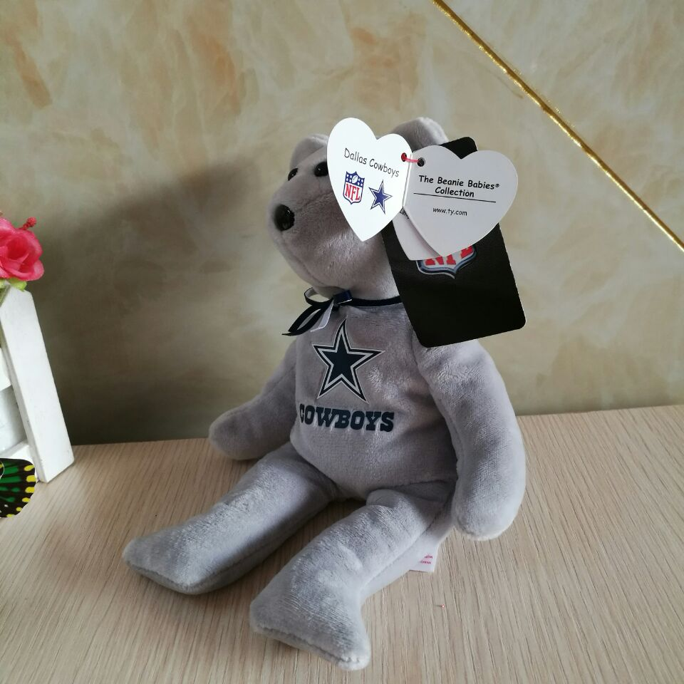 15CM Ty BEANIE BABIES DALLAS COWBOYS PLUSH TOY CUTE DOLL SOFT KIDS  CHRISTMAS NEW YEAR GIFT STUFFED DOLL-in Stuffed   Plush Animals from Toys    Hobbies on ... 4d8d750ad