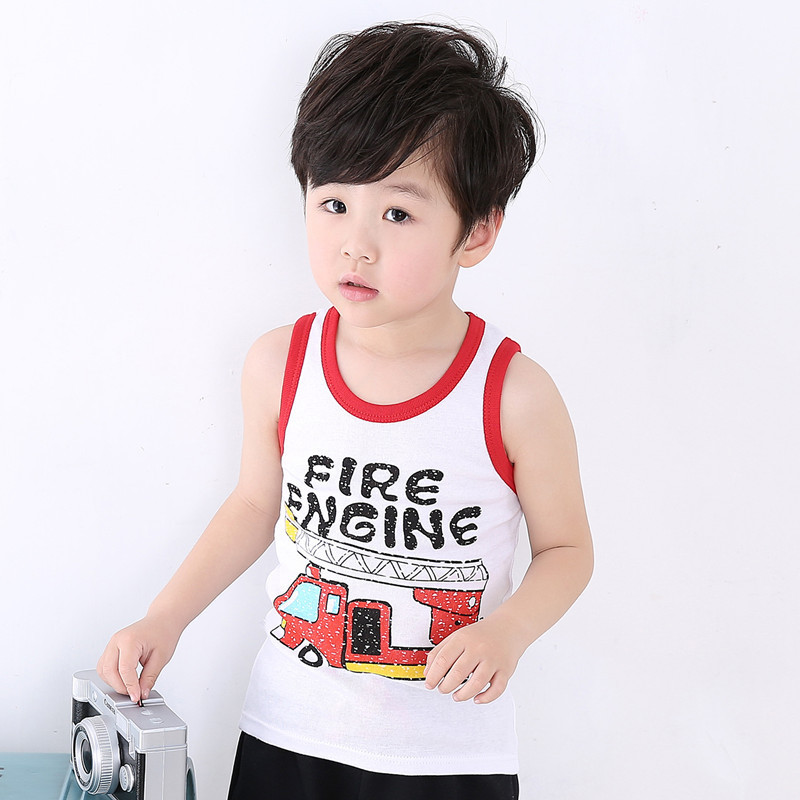 T-Shirts Tops Tees Girl Baby-Boy Children Cotton Sleeveless Summer for And Cool Kid's