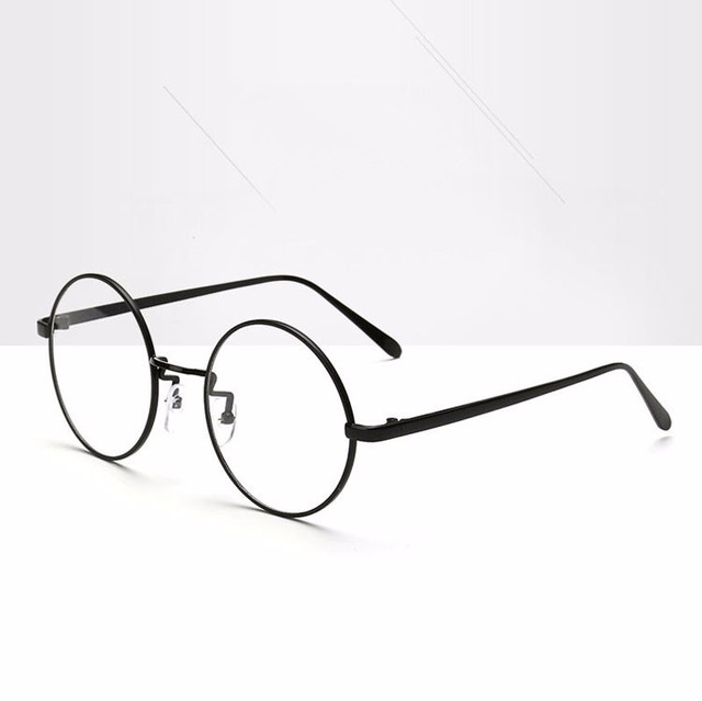 0a6e42d0fc6 Oversized Korean Round Glasses Frame With Clear Lens
