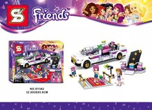 SY382 Friends Gril Sightseeing Car Open Top Sports Car Minifigures Building Block Minifigure Toys Compatible with Legoe