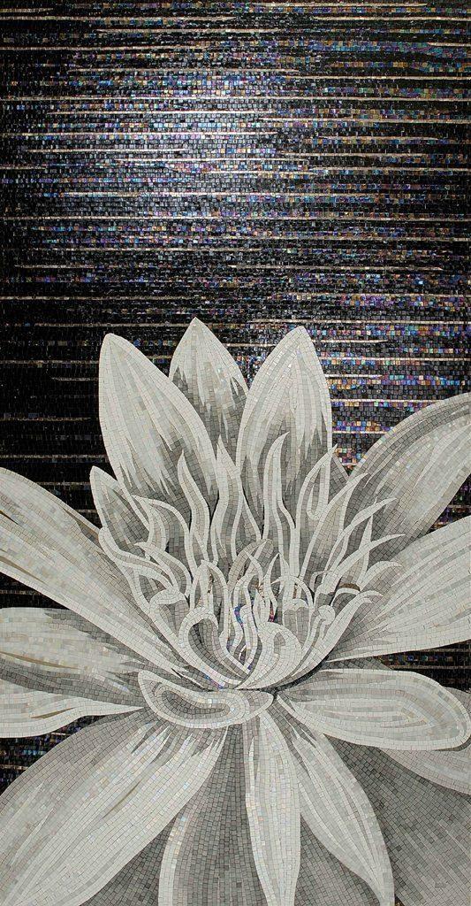Цветочный дизайн стеклянная ручной работы мозаичная плитка Современный художественный Декор настенной росписи - 2