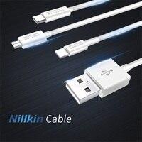 Nillkin 1 m 2.1A (max) кабель для iPhone XS Max X 8 7 зарядное устройство Micro USB кабель для Android type C кабели для передачи данных Xiaomi
