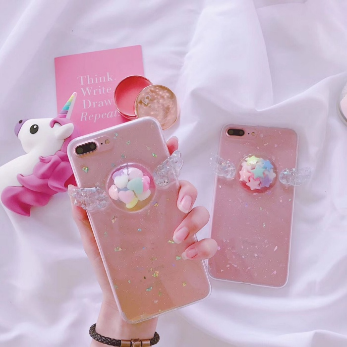 Crystal CutePhone Case for iPhone 7 7plus 7+ 6/6s Plus 6+ 8 8plus Funda Cases Soft Back Cover For Apple iPhone X Case