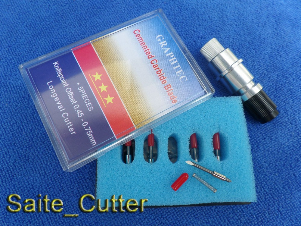 Factory Price 5 PCS 45 Degree Blades for Cutting Plotter Cutter+1 pcs Graphtec CB15 Blade Holder lowest price mini cutting plotter375mm seiki brand plotter factory direct sell
