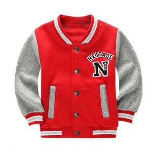 Image 4 - Wiosna jesień dzieci płaszcz wzór w napisy Student odzież baseballowa chłopcy bluza dziewczyny bluzy Casual dziecięca kurtka odzież wierzchnia